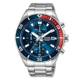 Pulsar PM3185X1 Men's Watch Chronograph Blue/Red