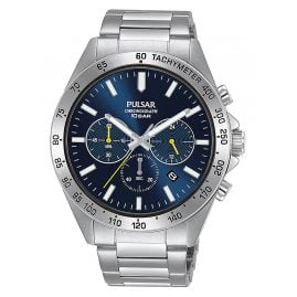 Pulsar PT3A73X1 Sport Herren-Armbanduhr Chronograph Blau