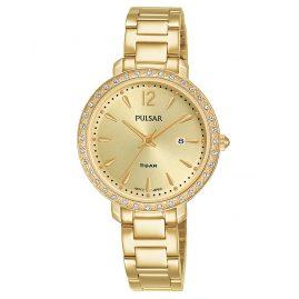 Pulsar PH7516X1 Damenuhr Quarz Goldfarben mit Kristallen