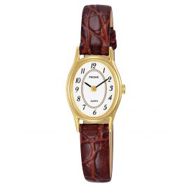 Pulsar PPGD78X1 Damen-Armbanduhr mit Lederband Braun