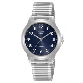 Pulsar PY5077X1 Solar Ladies' Watch with Flex Bracelet Blue