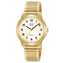 Pulsar PY5078X1 Women's Watch Solar with Flex Bracelet Gold Tone