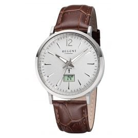 Regent FR-243 Radio-Controlled Men's Watch with Leather Strap Ø 40 mm