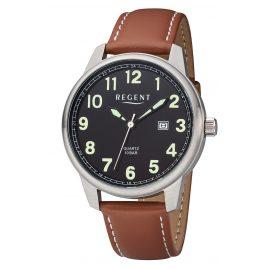 Regent F-1239 Herren-Armbanduhr Lederband Braun Ø 43 mm