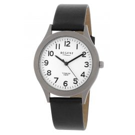 Regent F-842 Titanium Men's Watch with Leather Strap