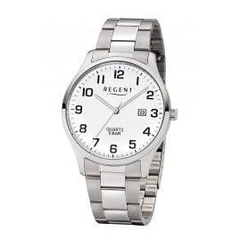 Regent F-1178 Herren-Armbanduhr mit Stahlband Weiß