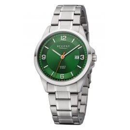 Regent F-1289 Herren-Armbanduhr mit Stahlband Grün