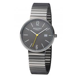 Regent F-1353 Armbanduhr mit Zugband Grau