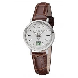 Regent R-256 Radio-Controlled Ladies' Watch Leather Strap Ø 30 mm