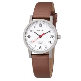 Regent F-1213 Ladies' Watch Titanium Leather Strap Ø 27 mm