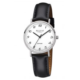 Regent F-1217 Ladies' Watch Sapphire Crystal Leather Strap Ø 32 mm