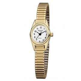 Regent F-263 Ladies' Watch with Elastic Bracelet Gold-Plated