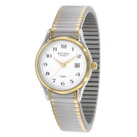 Regent F-461 Ladies' Watch with Elastic Bracelet Two-Colour Ø 28 mm