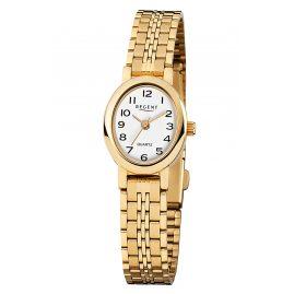 Regent F-394 Armbanduhr für Damen Goldfarben