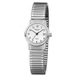 Regent F-888 Ladies' Watch with Elastic Strap Silver Tone