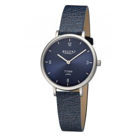 Regent BA-690 Ladies' Wristwatch Titanium Dark Blue