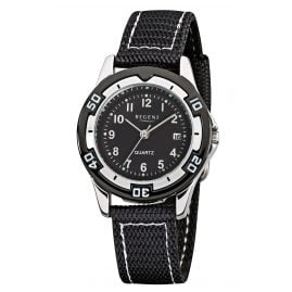 Regent F-317 Children's Watch Water-Resistant 10 Bar Black Ø 30 mm