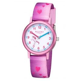 Regent F-1207 Kids Watch for Girls Unicorn Pink Ø 30 mm