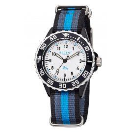 Regent F-1204 Kinder-Armbanduhr Schwarz/Grau/Blau