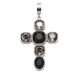 Leonardo 018760 Kreuz-Anhänger Venetta Clip&Mix Edelstahl
