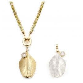 Leonardo 019694 Ladies' Necklace Maila Clip&Mix Stainless Steel
