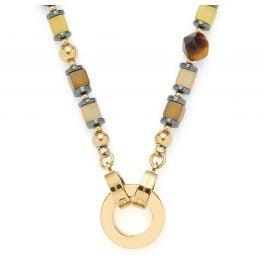 Leonardo 021585 Damen-Halskette Clip&Mix Havana 45 Edelstahl
