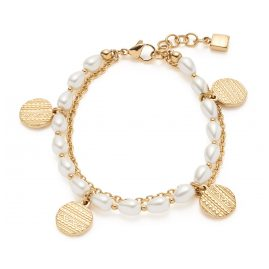 Leonardo 018307 Ladies' Bracelet Ava Gold Plated Steel