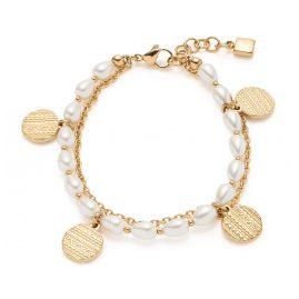 Leonardo 018307 Damen-Armband Ava Edelstahl goldfarben