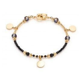Leonardo 018305 Damen-Armband Cesira Edelstahl schwarz/gold