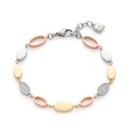 Leonardo 021548 Damen-Armband Anita Tricolor Edelstahl