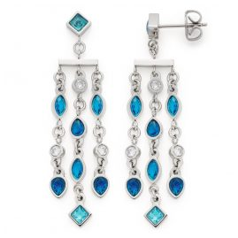 Leonardo 018384 Ladies Drop Earrings Arabella Stainless Steel Blue