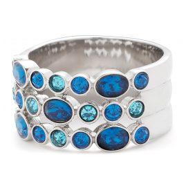 Leonardo 01838 Damenring Arabella Edelstahl Blau