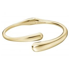 CALVIN KLEIN KJDMJF1001 Ladies' Bangle Ellipse Gold Plated Stainless Steel