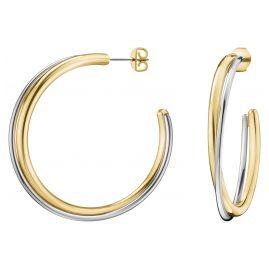 Calvin Klein KJ8XJE200100 Hoop Earrings Double Two-Colour