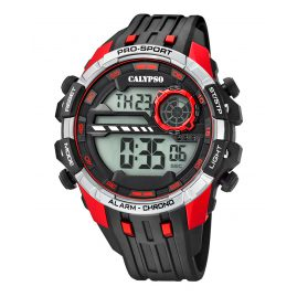 Calypso K5729/4 Digital Chronograph Mens Watch Black/Red