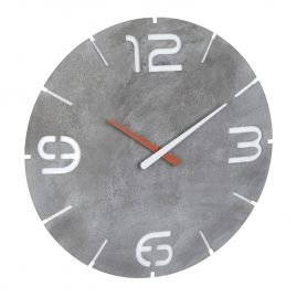 TFA 60.3536.15 Radio-Controlled Wall Clock Contour Concrete Look