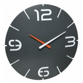 TFA 60.3536.10 Radio-Controlled Wall Clock Contour Anthracite