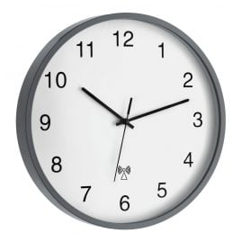 TFA 60.3511.10 Radio-Controlled Wall Clock Grey/White