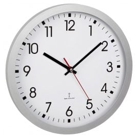 TFA 60.3522.02 Radio-Controlled Wall Clock Silver/White