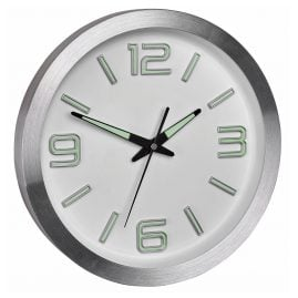 TFA 60.3526.02 Radio-Controlled Wall Clock Silver/White