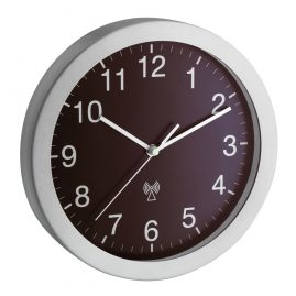TFA 98.1091.08 Radio-Controlled Wall Clock Silver/Brown