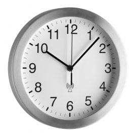 TFA 98.1091.02 Radio-Controlled Wall Clock Silver/White