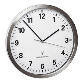 TFA 60.3523.02 Radio-Controlled Wall Clock with Silent Movement