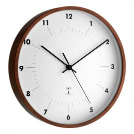 TFA 98.1097 Radio-Controlled Wall Clock with Wooden Frame