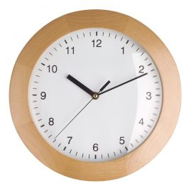 TFA 98.1065 Radio-Controlled Wall Clock Beech Wood