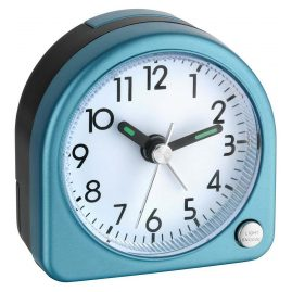 TFA 60.1020.06 Electronic Alarm Clock Silver Tone