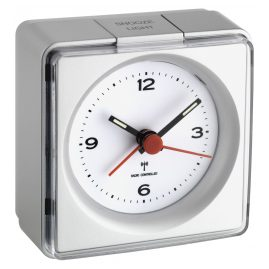 TFA 60.1501.54 Radio-Controlled Alarm Clock Silver