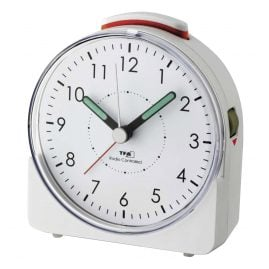 TFA 60.1513.02 Radio-Controlled Alarm Clock Sunrise White