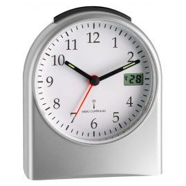 TFA 98.1040.54 Radio-Controlled Alarm Clock Silver