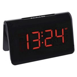 TFA 60.2543.05 Radio-Controlled Alarm Clock Icon Black/Red